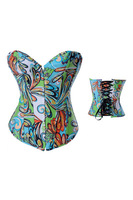 Free shipping New Sexy Corsets 2013 Women Multicolored Corset LB4091