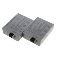 1600mAh High Wholesale 2pcs/set LP-E5 LP E5 Replacement Digital Battery for Canon camera