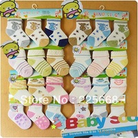 baby socks Lovely candy color 12Pairs/Lot  kids socks child ultrathin ventilate socks autumn/summer/spring age:0-1 free shipping