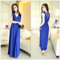 1pcs Free shipping Sleeveless sexy lace slim high waist vest one-piece dress #F015
