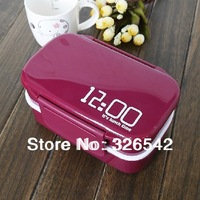 Free shipping High quality double layer plastic lunch box lunch box japanese style Large mealbox tableware microwave oven