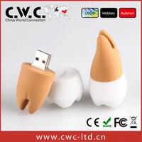 Free shipping wholesale PVC Rubber pen drive tooth 1gb 2gb 4gb 8gb 16gb 32gb