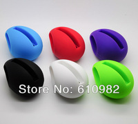 Hot Sale Fashion Music Egg Shape Silicone Stander Audio Dock Loudspeaker Amplifier For iPhone 4 4S 4G 4GS Retail
