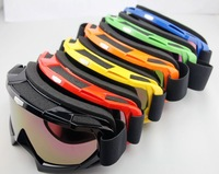 Adult motocross dirt bike ATV motorcycle cross-country ski goggles glasses color lens 6 color