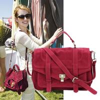 Brand Fashion Women's Handbag Jessica Skin Scrub Briefcase Messenger Bag PU Suede Leather Emma Roberts Satchel Tote Bolsas