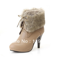 New 2013 fashion women's boots platform stiletto high heel sexy ladies boots brief ankle length lacing martin boots