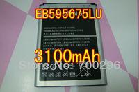 Free shipping 3100mah EB595675LU Battery For Samsung Galaxy Note II 2 LTE N7105 N7100 T-Mobile T889 Sprint L900 Verizon i605