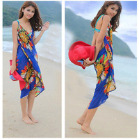 2013 New Arrival ! Chiffon Woman's Wrap Front Summer Women Cover Up Beach Dress Towel Swimwear Free shipping