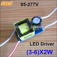 50pcs/lot, (3-6)X2W high power led driver, 4*2W, 5*2W lamp Transformer, 85-265V 420mA inside driver for LED DIY, free shipping!