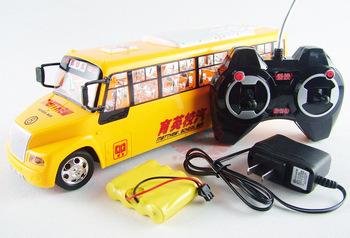Wireless remote control school bus big bus model remote control car bus toy car school bus
