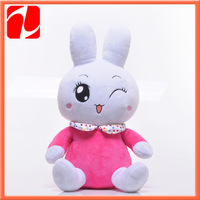 2013 Shenzhen lovely electronical plush talking rabbit with music and recorder