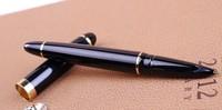 Factory Direct 9601 hero pen Genuine, glossy black iridium-point pen calligraphy pen calligraphy. Gift pen.free shipping!