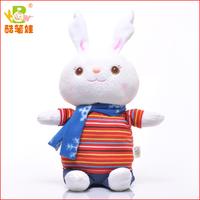 2013 Shenzhen colorful  plush talking rabbit , electronical plush  rabbit with music recorder
