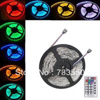 NEW!! 5M Waterproof SMD RGB 5050 LED Strip 300LED Flexible Strip light + 24 key IR remote
