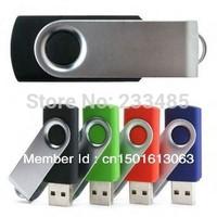 Sell like hot cakes High quality fashion rotating metal U disk 8GB 16GB 32GB 64GB 128GB Swivel USB Flash Drive free shipping