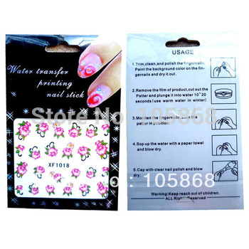Hot Sale Nail Art Water Temporary Tattoos Watermark Stickers New Nail Sticker T0272