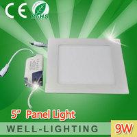 led square 9w panel light,super brightness smd2835 led square ceiling light,Warm White And Cold White Light AC85V-265V