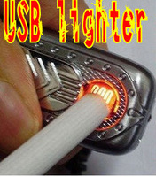 Mini Electronic Rechargeable USB Power Flameless Cigarette Lighter Mini Green Windproof Flameless Lighter