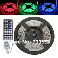 Waterproof Flash RGB 5050 5M 300 LED Flex SMD Strip + 44 key IR Remote Controller 12V DC
