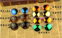 2013,new arrival!!!delicate cool reflection sunglass wholesale and retail. best choice for gift.brand round sunglasses women