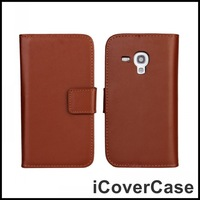 For Samsung Galaxy S3 Mini i8190 Genuine Leather Wallet Stand Case