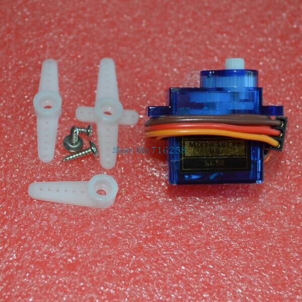 10pcs/lot Rc Mini Micro 9g 1.6KG Servo SG90 for RC 250 4