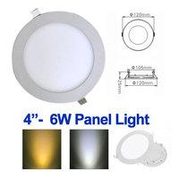 Free Shipping! 6w led panel lighting AC85-265V,SMD2835,Alumium,Warm /Cool white,indoor lighting led ceiling light,10pcs/lot