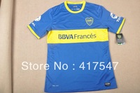Player version 13/14 Boca Juniors home blue soccer jerseys football shirt , top thai jersey with embroidered logo
