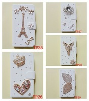 CUSTOMIZE for LG P705 P880 L5 E610 E612 DIAMOND BUTTERFLY peacock BEAR FLOWER PU magnet LEATHER Flip case cover FREE SHIPPING