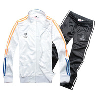 2015 Real Madrid Soccer Training Tracksuits Brand Football Jacket Long Sleeve Sport Set Men Futbol Coat Sz S-XXL Free Shipping