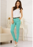 Free shipping,2013 summer autumn Women's fashion Bright Color Long Pants Cargo Trousers women pencil pants plus size pants S-XL