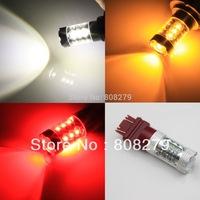 Free Shipping, New Arrival, 2pcs 80W 3157 3156 3047 3057 High Power 16 LED Turn Signal Light Bulb Amber/Yellow White RED12V 24V
