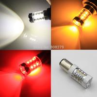 Free Shipping, 2pcs 80W 1157 BAY15D 380 P21/5W High Power 16 LED Turn Signal Light Bulb Amber/Yellow White RED12V 24V