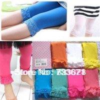 baby girl velvet legging kids candy color lace leggings girl fashion summer cute dress 10pcs/lot