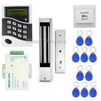 DIY RFID ID Card Keypad Door Access Control System Kit +Electric Magnetic Door Lock +Free 10 ID Key Fobs B100