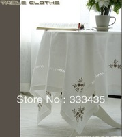 Fashion table cloth/Table cloth hand embroidered high-grade cotton and linen cloth/The original single foreign trade/