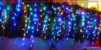 110V /220V 3.5M Long 96 Bulbs XMAS LED Curtain Lights , Romantic Christmas Decoration ,6pcs/Lot 10 Colors , Free Drop shipping