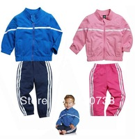 10 Free shipping children's 2013 boy's set ,girl's set, baby's clothing , jack+pants spring autumn 2pcs/set Wholesale and retail