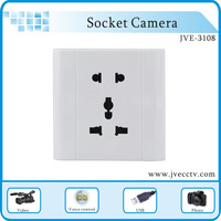 Home Security  Socket Hidden Pinhole Camera , MINI Digital Video recorder 4GB/8GB/16/32GB/ + Package JVE-3108