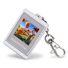 Christmas Gift 1.5 inch LCD 16MB Memory Mini Electronic Digital Photo Album Frame Keychain Digital Picture Frame Free Shipping(China (Mainland))