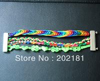 Free Shipping Retail/Wholesale 3pcs/lot  2013 new brazilian bracelet hipanema style bracelet Colorful Magnetic Hipanema Bracelet