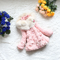Free shipping Hot-selling children's clothing winter fashion sweet is maomao thickening coat of the girls 8-12 yer old