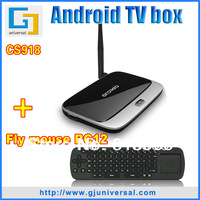 Free Shipping (CS918+air mouse RC12 / lot) 2G RAM 8G ROM Android 4.2.2 Quad core RK3188 1.6G Android TV box 4.2 Smart tv stick