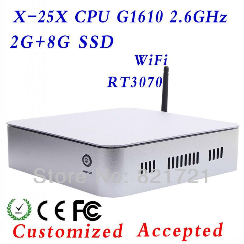 Intel atom G1610 Desktop Mainboard XCY X-25X 30*22*5.6cm Dimension small body big power(China (Mainland))