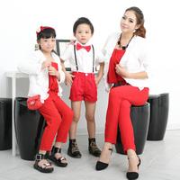 children's brand baby kids clothes chiffon jumpsuit pants / cardigan jacket / t shirt+overalls shorts Family,mom / girls / boys