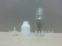 Wholesale Free Shipping  200pcs/LOT 10ml PET Bottles Child proof cap And Long Thin Tip with tamper evident  /triangle cap