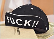 Korean tide over the hat Harajuku wind hip-hop flat hat dance baseball hat turned brim cap (FUCK)