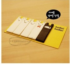 E7027 Queer wholesale Korea stationery cute memo note paper affixed smiley bunny bookmark page