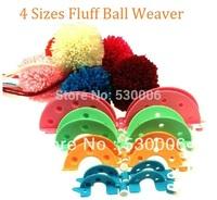 6sets/Lot  4 Sizes Essential Pom-Pom Pompom Maker Fluff Ball Weaver Needle Craft Knitting Tool DIY Set- Random Color