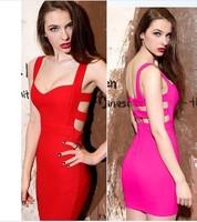 2013 Autumn new style Fashion queen sexy low-cut V-neck cutout big racerback slim hip slim Ladies' dress